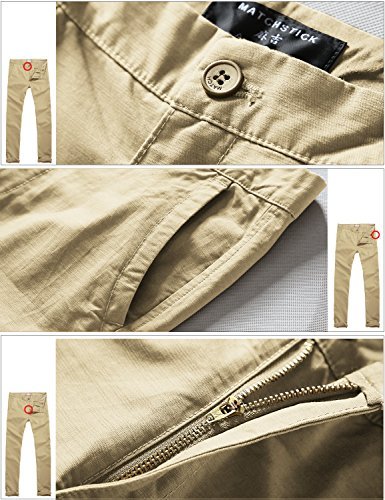 5b67ccf8 Match Mens Slim-Tapered Flat-Front Casual Pants(8110 Khaki,34W x 31L) -  FrenzyStyle