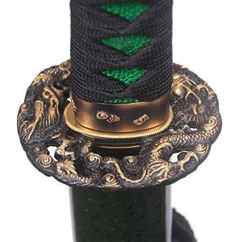 Handmade Katana Sword Full Tang Samurai Sword,Battle Ready,Practical, Hand Forged,1095 High Carbon Steel/T10 High Carbon Steel Clay Tempered/Damascus Folded Steel,Razor Sharp