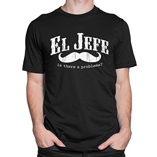 (TheShirtDudes EL Jefe (The Boss) - funny Mexican Adult T-Shirt)