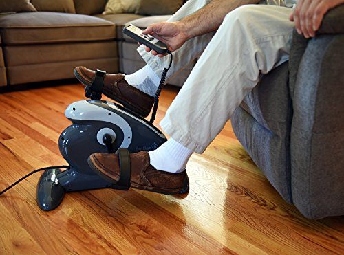 Ivation Fitness Motorized Electric Mini Exercise Bike/Pedal Exerciser With Bonus Mat - Works Both Legs & Arms