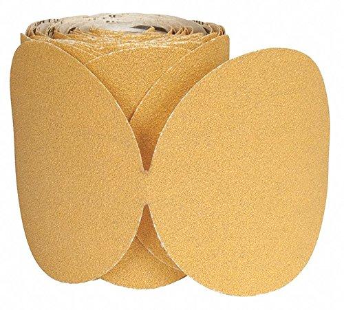 6'' Coated PSA Sanding Disc, 320 Grit, Non-Vacuum, Very Fine Grade, Aluminum Oxide 1, EA, Pack of 5