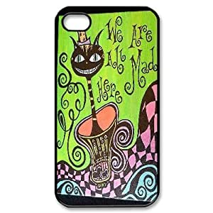 Personalized we are all mad here Iphone 4,4S Cover Case, we are all mad here DIY Phone Case for iPhone 4, iPhone 4s at Lzzcase WANGJING JINDA
