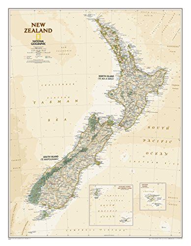 New Zealand Map Pdf.Download New Zealand Executive National Geographic Reference Map