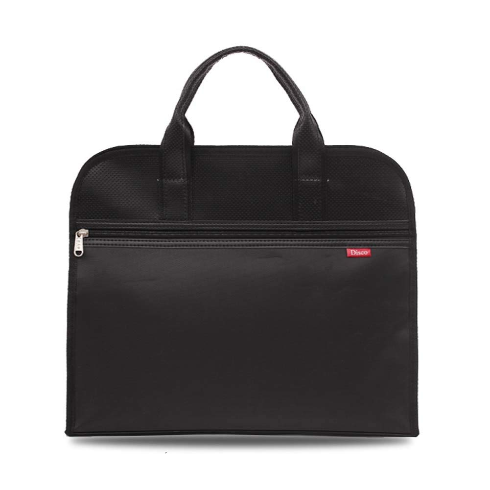 Notebooks HEHGU A4 Size Business Bag Oxford Fabric Document Bag Portable Travel Briefcase for Papers Black Files