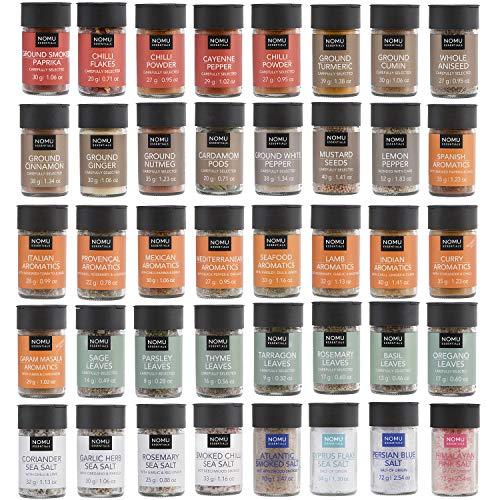 (NOMU 40-Piece Complete Variety Set of Spices, Herbs, Seasoning Blends & Finishing Salts Range | Non-irradiated, No MSG or Preservatives)