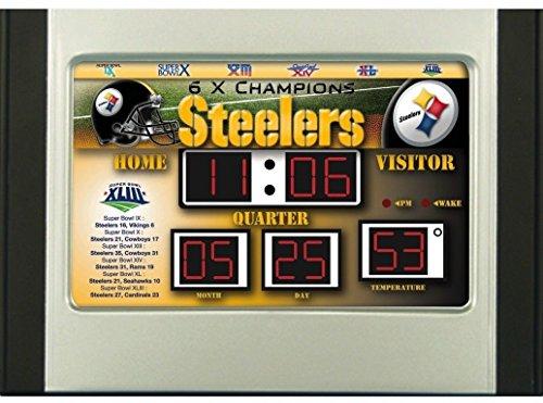 Scoreboard Alarm Clock (Pittsburgh Steelers Scoreboard)