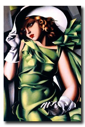 Young Girl in Green by Tamara de Lempicka. Fine Art Print Poster (24 x 36)