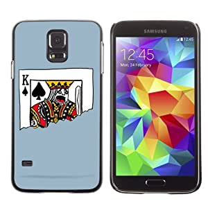 Licase Hard Protective Case Skin Cover for Samsung Galaxy S5 - Funny Playing Card