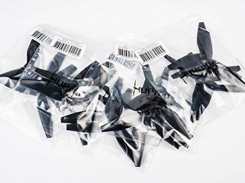10 Pairs HQ Prop DP 5x4.5x3 v3 Tri-Blade 3 Blade Propellers Props Black