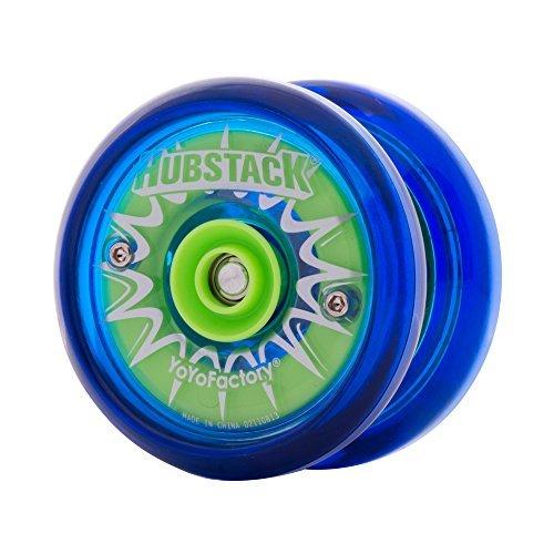 YoYoFactory Hubstack Yo-Yo - Green and Blue by YoYoFactory