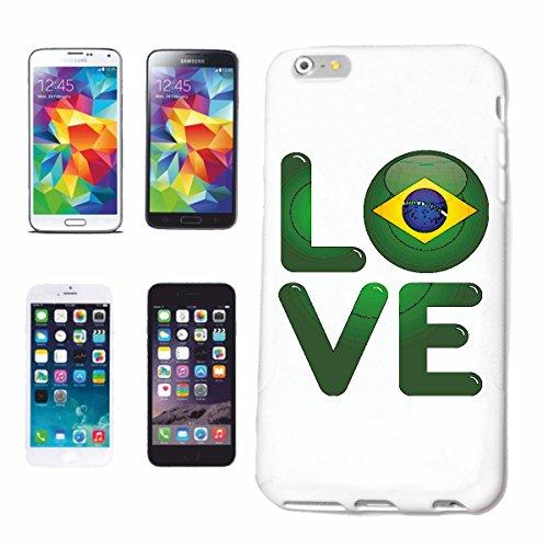 """cas de téléphone iPhone 7+ Plus """"J'AIME BRASIL J'AIME Brésilien COUPE DU MONDE brésilienne"""" Hard Case Cover Téléphone Covers Smart Cover pour Apple iPhone en blanc"""