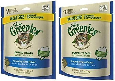 Greenies Feline Dental Treats Tempting Tuna for Cats,