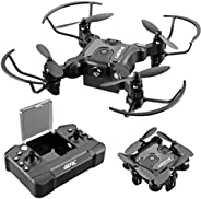4DRC V2 Mini Drone for Kids and Beginners RC Foldable Nano Pocket Quadcopter Boys and Grils Toys with Altitude Hold, Headles