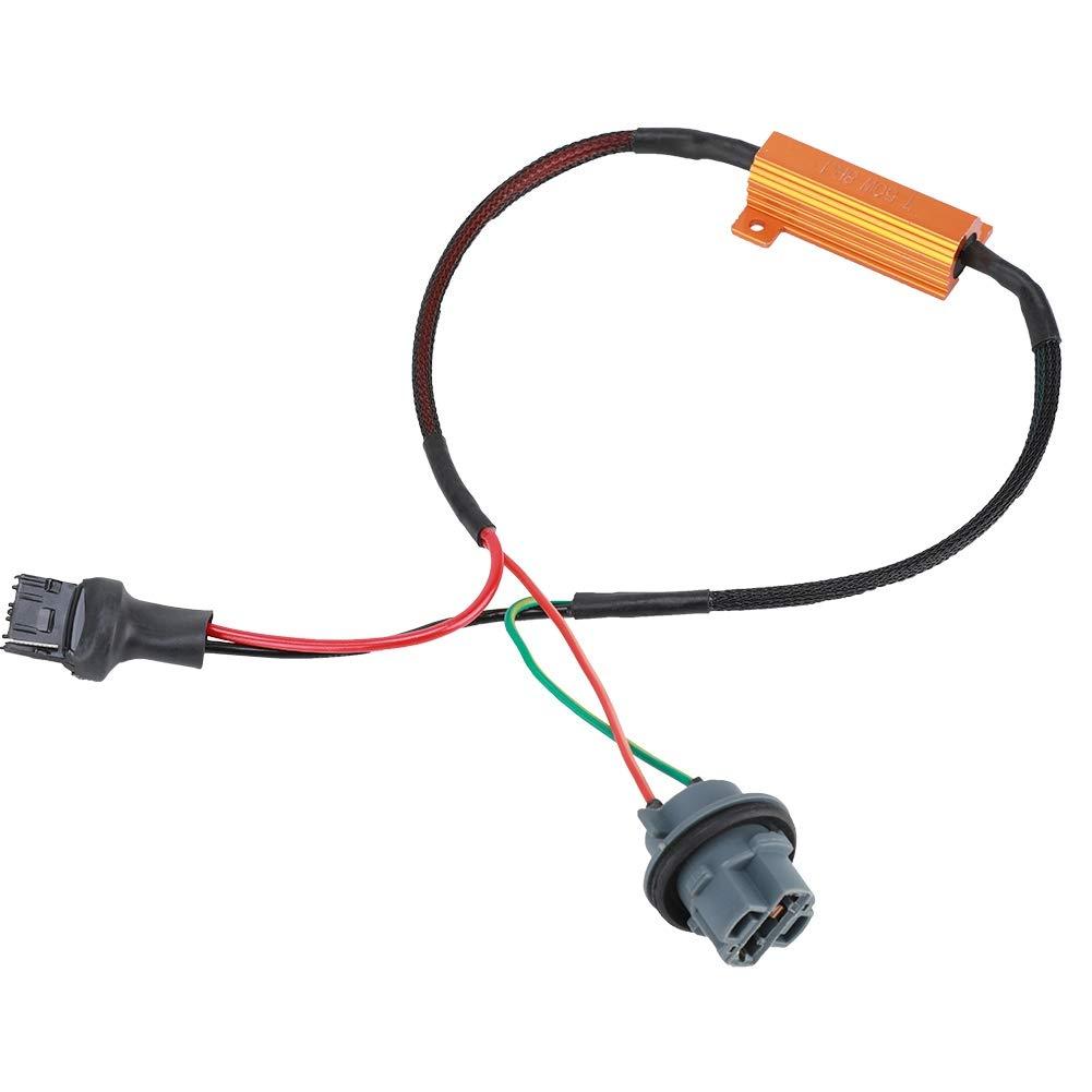 Adaptateurs de C/âblage sans Erreur 1 Paire Mat/ériel en ABS 7440 T20 50W8RJ pour Clignotants /à LED
