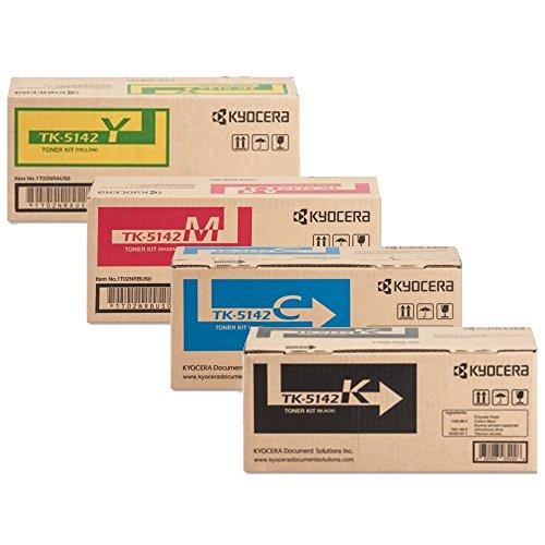 Kyocera TK5142 (TK-5142) 4-Color Toner Cartridge Set for M6530cdn, P6130cdn -