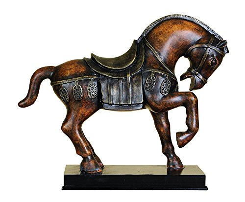 Elaan31 22601 Horse Statue Tang Unique Animal Table Decor Accent (Sculpture Tang Horse)