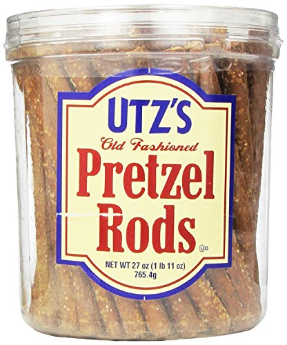 Utz Old Fashioned Pretzel Rods - 27 oz. Barrel - Thick, Crunchy Pretzel Rod, Perfect for Dipping and Snacks, Zero Cholesterol Snack Food