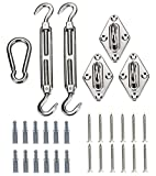 Kebinfen 8-inch Super Heavy Duty Shade Sail Hardware Kit for Triangle Sun Shade Sails, Shade Sail Accessories with Screws