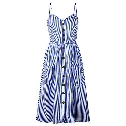 Robe t Vintage Longue Plage Boheme Sexy Casual Robes Bleu Elegante Chic paules Femme Floral dqwzgndt