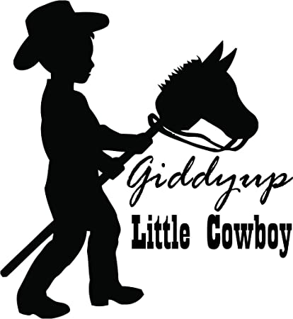 Amazon.com Giddy Up Little Cowboy Quote Quotes Decals for