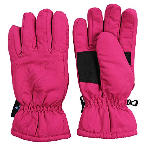 (Urban Boundaries Womens/Girls Warm Winter Waterproof Thinsulate Snow Gloves (Pink, Medium) )