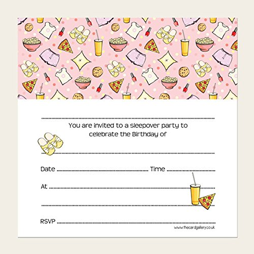 sleepover invitations amazon co uk