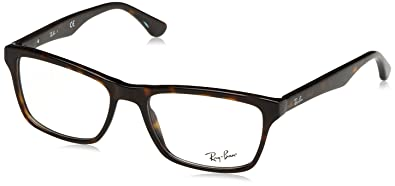 92ad3aa193d78 Ray-Ban Men s 0rx5279 No Polarization Square Prescription Eyewear Frame  Dark Havana 53 mm