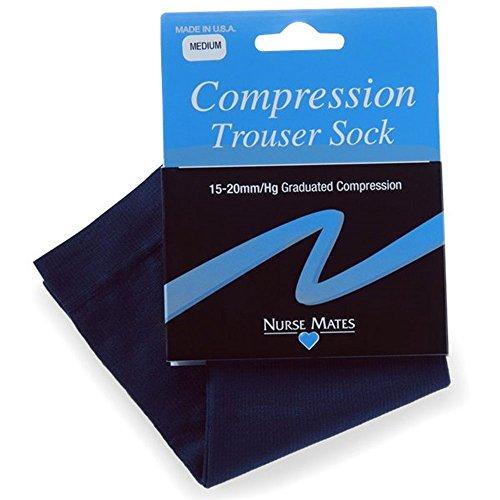 Nurse Mates Navy Microfiber Trouser Socks
