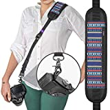 Altura Photo Rapid Fire Vintage Camera Neck Strap w/Quick Release and Safety Tether