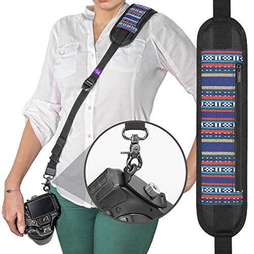 Altura Photo Rapid Fire Vintage Camera Neck Strap w/Quick Release and Safety Tether ()