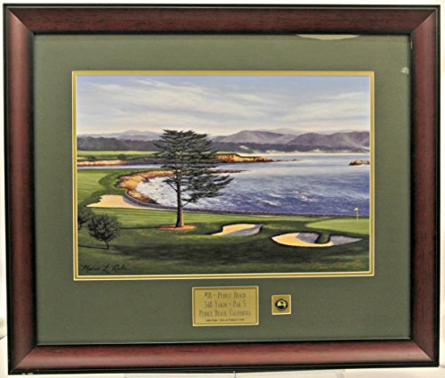 18th Hole Framed (Pebble Beach 18th hole Framed with)