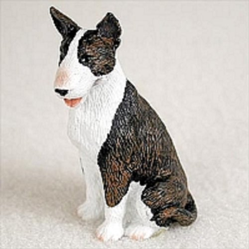 Conversation Concepts Bull Terrier Brindle Tiny One Figurine (English Bull Terrier Cross Staffordshire Bull Terrier)