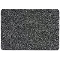 Muddle Mat T301 30 x 20 Charcoal Cotton Indoor Rug, Gray