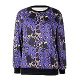 Zenicham Women's Comfortable Long Sleeve 3D Printed Sweatshirt Pullover