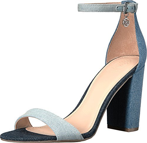 Guess Ankle Strap Sandals (GUESS Womens Bamboo Open Toe Casual Ankle Strap Sandals, Denim Blue, Size 6.5)