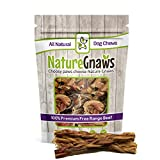 Nature Gnaws Braided Bully Sticks 5-6 inch (5 Pack) - 100% Natural Grass-Fed Free-Range Premium Beef Dog Chews