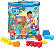 Mega Bloks First Builders Big Building Bag with Big Building Blocks, Building Toys for Toddlers (80 Pieces) -