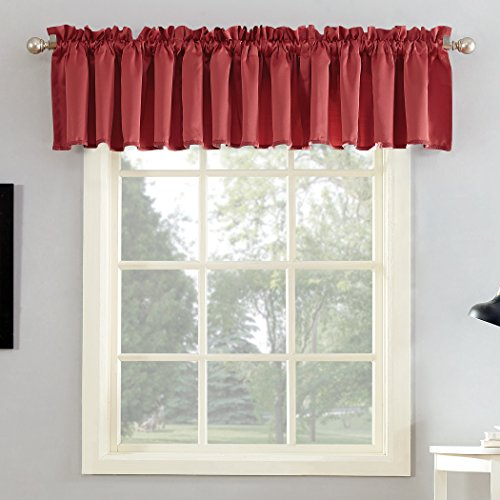 (Sun Zero Barrow Energy Efficient Rod Pocket Curtain Valance, 54