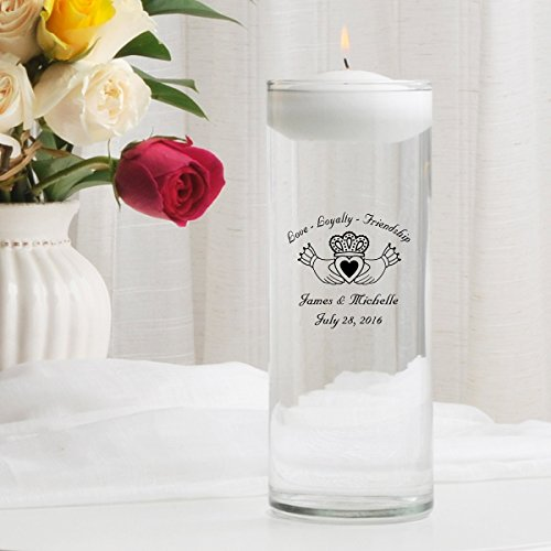 Personalized Floating Wedding Unity Candle- ()