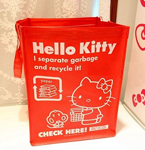 CJB Lovely Sanrio Hello Kitty Multipurposes Foldable Hamper Laundry Bag Red (US Seller)