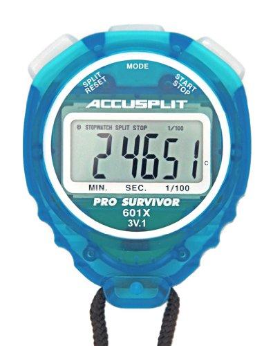 ACCUSPLIT Pro Survivor - A601XBK Stopwatch, Clock, Extra Large Display (Aqua)