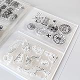 Clear Stamps & Dies Storage Box Pockets Album can Hold up 80pcs Clear Stamps 3.8''x5'' 2 per Page Clear Stamps Organizers