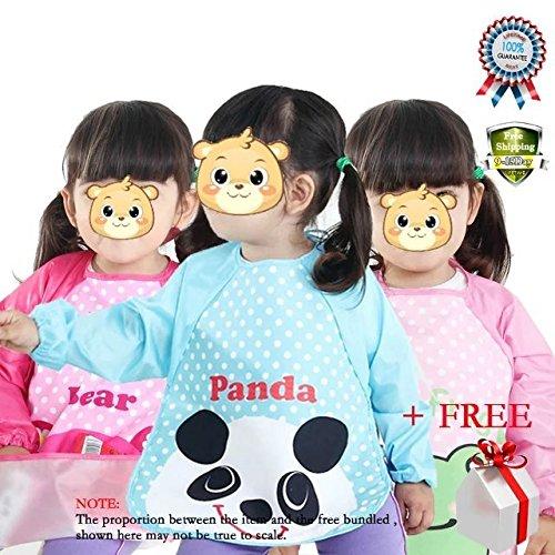 baby-waterproof-sleeved-bib-eatplay-smocktoddler-apron-of-peva-infant-toddler-art-smock-cartoon-long