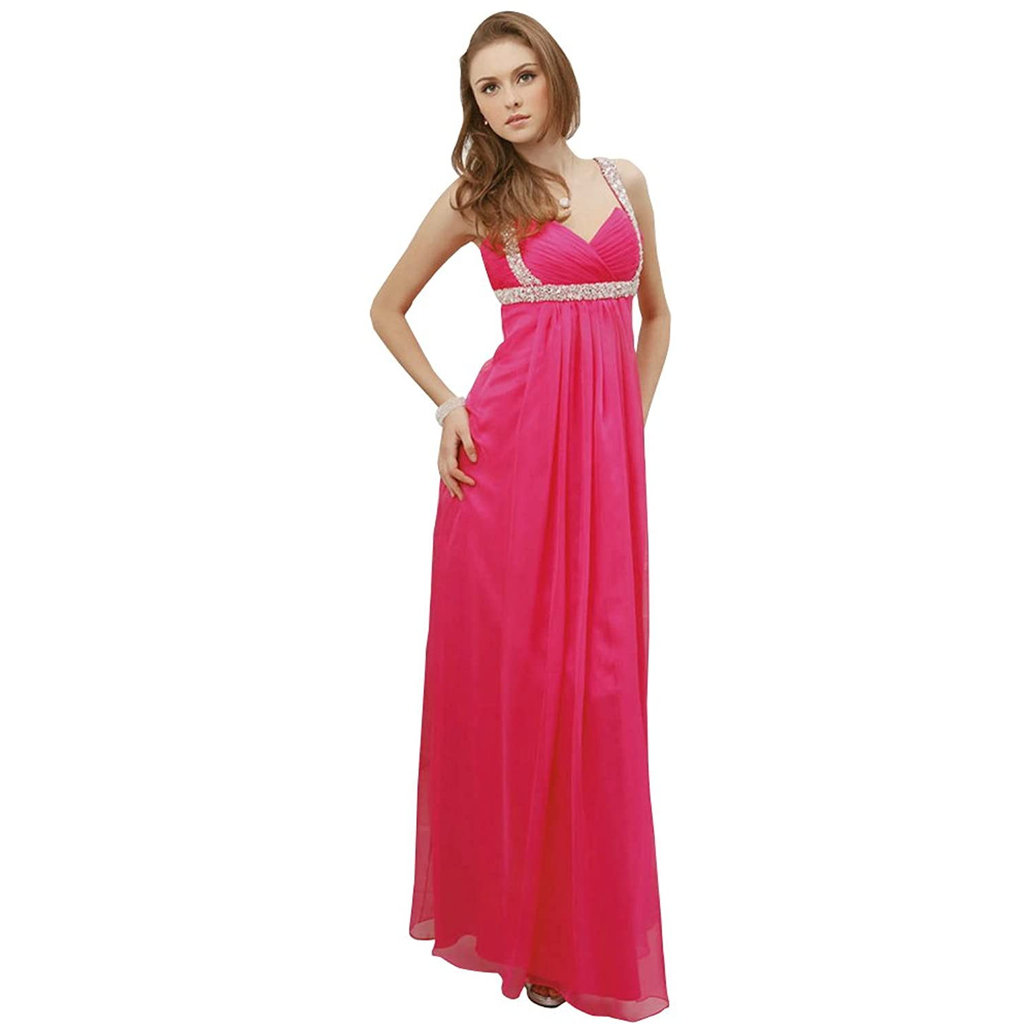 GEORGE BRIDE Sheath/Column One Shoulder Floor Length Chiffon Evening Dress With Beaded Appliques