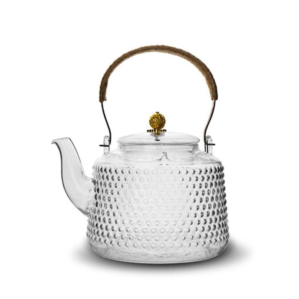 MMD Teteras de Vidrio con colador de té Infuser para té de Hojas ...