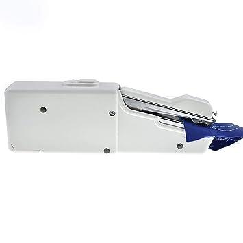 Mini portátil de mano Máquina de coser eléctrica con pilas costura de la herramienta de Handy