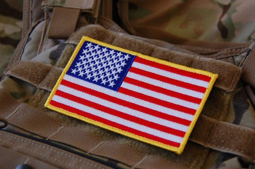(Large 3x5 Inch Color Tactical Us USA Flag (Hook/Loop) Patch)