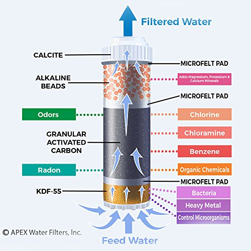 APEX Countertop Drinking Water Filter - Alkaline (Clear) by Apex (Image #4)