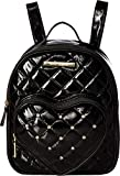 Betsey Johnson Women's Heart Pocket Backpack Black One Size