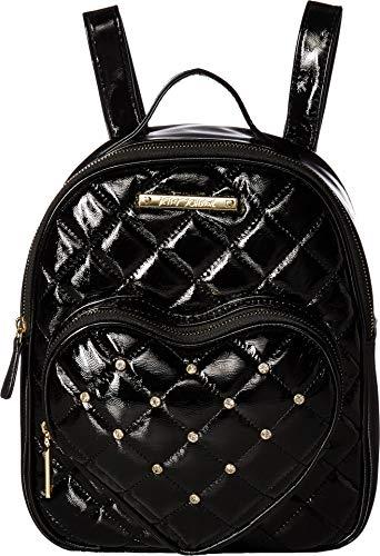 Betsey Johnson Women's Heart Pocket Backpack Black